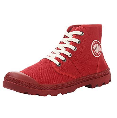 Unisex-Erwachsene Sneaker | Bequeme Übergrößen Sportschuhe für Damen und Herren | High top Textil Schuhe| Paar Hohe Sneakers Sportschuhe | Atmungsaktiv rutschfest Schnürer Sportschuhe | TWBB
