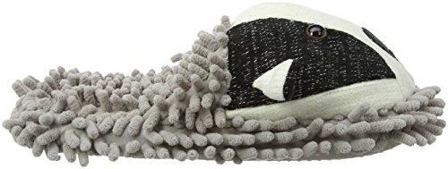 Aroma Home Shoes Damen Fuzzy Friends Badger Hausschuhe Grau