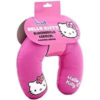 Cojin para coche para niños - en forma de U - Hello Kitty - Almohadilla cervical – Rosa