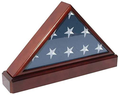 IK HAPPY Flag Box Burial/Bestattungsfahne Display Case Frame Military Shadow Box mit Pedestal Stand ABC (Frame Display Case Shadow Box)