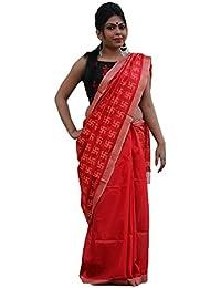 The Wardrobe Women's Bhagalpuri Slik Saree(TW003_Red_Freesize) …