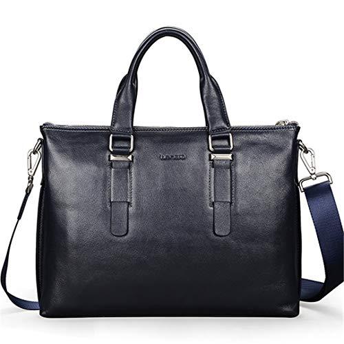 Borsa a tracolla di alta qualità borsa a tracolla messenger uomini in pelle di mucca valigetta Blue