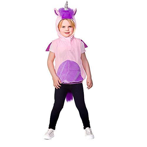 Kostüm Einhorn Wicked - Kinder Unisex Tier Wappenrock 3-5 Jahre (Einhorn)