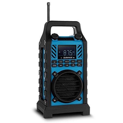 Preisvergleich Produktbild Duramaxx Baustellenhero Bauradio USB Baustellenradio Outdoor-Radio (Lautsprecher für die Baustelle, DAB / DAB+, MP3-fähige USB-SD-Slots, AUX, Bluetooth, Netz- und Batteriebetrieb) blau