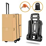 Folding Hand Truck, Wilbest 70 Kg/155 lbs Heavy Duty 4-Wheel Solid Construction Utility