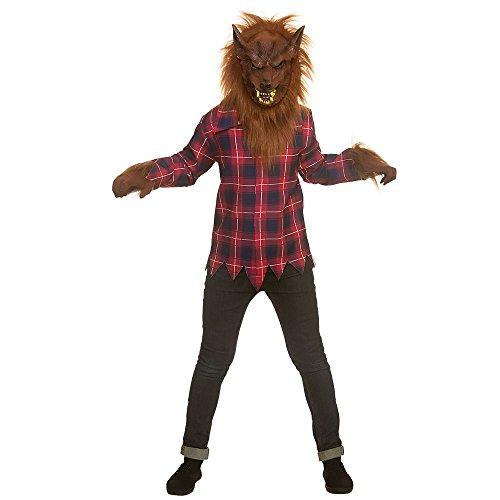 Ragazzi spaventoso lupo mannaro grande halloween costume in maschera (taglia grande)