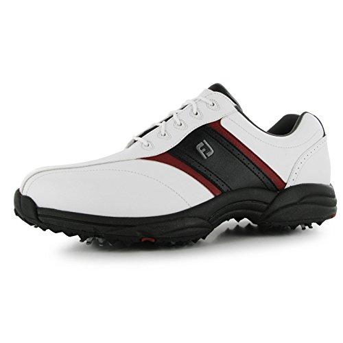 Footjoy , Chaussures de golf pour homme - Blanc - Blanc/noir, 9 (43)