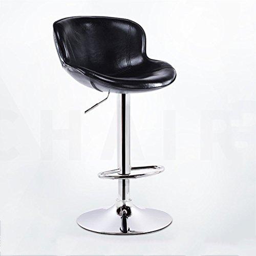 GJM Shop tabouret pivotant à 360 ° réglable en hau Similicuir + Coussin Éponge Ménage Chaise De Bar Chaise Pivotante 360 ° Peut Lever Tabouret Haut Chaise De Levage De Réception Européen Tabouret De Bar Châssis De 41cm --- Sponge + Leatherette / surface de chaise en bo ( Couleur : 2 , taille : High section )