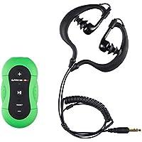 Ultratec Lettore MP3 impermeabile/lettore MP3 sportivo per nuotare o andare in spiaggia, lettore musicale impermeabile per MP3 e WMA, con clip per fissaggio al costume o agli occhialini/memoria 4 GB