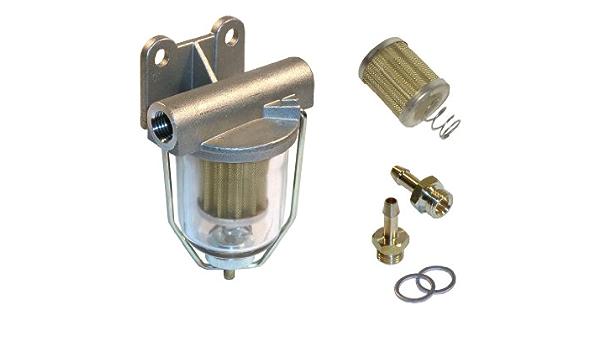 Kraftstoff Vorfilterset Mit Schauglas Ersatzfilter Und Anschlussverschraubung 6 Mm Pi8617 At6 Auto