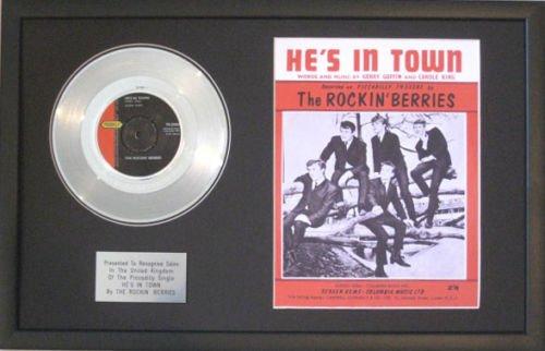 Rockin 'Berries-Platinum Disc & Lied sheet-he 's in Town Platinum-berry