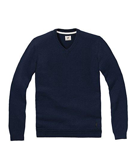 Lee - Maglione V-Neck Knit, Uomo, Azzurro (Navy), S