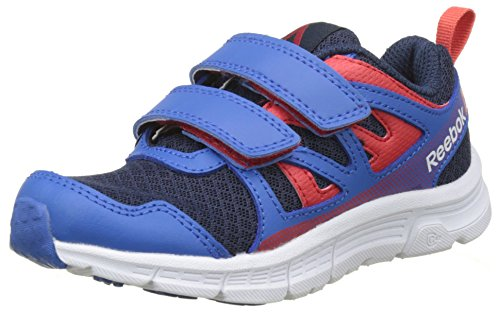 Reebok Run Supreme 2.0 2V, Scarpe da Corsa Bambino, Blu (Awesome Blue/Collegiate Navy/Primal Red/Wht), 34 EU