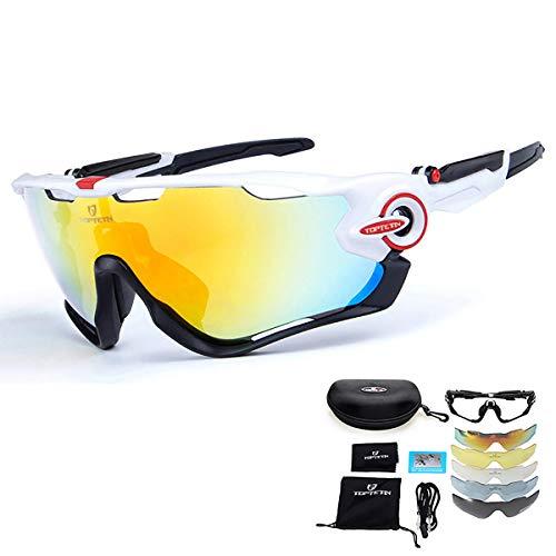 TOPTETN Gafas sol deportivas polarizadas Protección