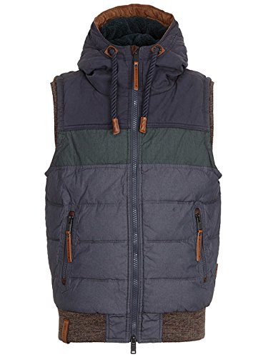 Naketano Men's Vest Kara Ben Nemsi dark blue / dark green