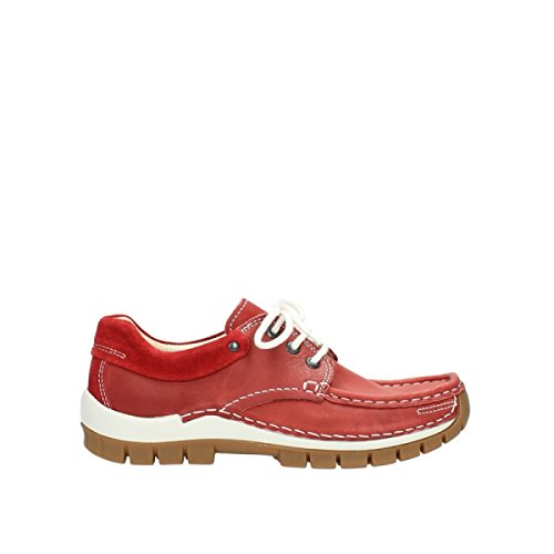 Wolky, 4701-221, warning colore antracite 257 red leather