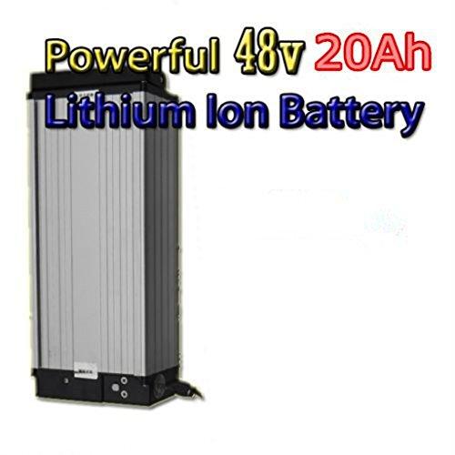 Batería de litio de 48 V 20 Ah con cargador de 4 A, batería eléctrica de alta potencia de 48...