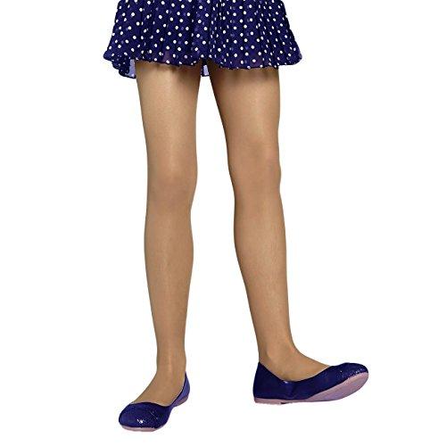 Mädchen 2-er Pack Feinstrumpfhose 40 Den Mikrofaser Gr. 152/164 Farbe Weiss Kinderstrumpfhose Perlonstrumpfose