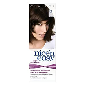Clairol Nice'n Easy Non-Permanent Hair Dye (Lasts Up to 8 Shampoos) - Dark Brown 79