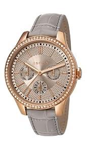 Esprit ES107132002 - Reloj de cuarzo para mujer, con correa de cuero, color gris de Esprit