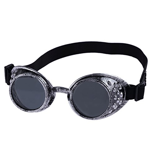 VRTUR Steampunk Antique Copper Cyber Goggles Rave Goth Vintage Victorian Like Sunglasses See All...