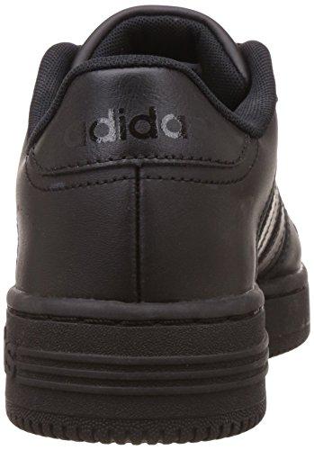 adidas Team Court, Scarpe da Ginnastica Basse Uomo Negro (Negbas / Negbas / Negbas)