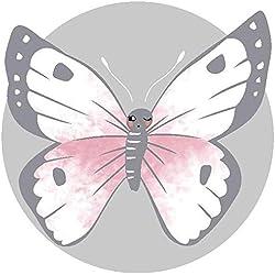 Desirabely Papillon Bébé Rond Tapis De Jeux Tapis De Rampage Coussin De Rampage Enfants Anti-Slip Jeu Étage Tapis De Pépinière Climatisé pour Enfants Tout-Petits Chambre À Coucher