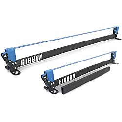 Gibbon Slacklines Slackrack Fitness Edition, gray / blue, length: 2 or 3 meters, with 2 handgrips, stretching tape and exercise poster with 16 different exercises, width: 50mm, height: 30cm, perfect leisure sport