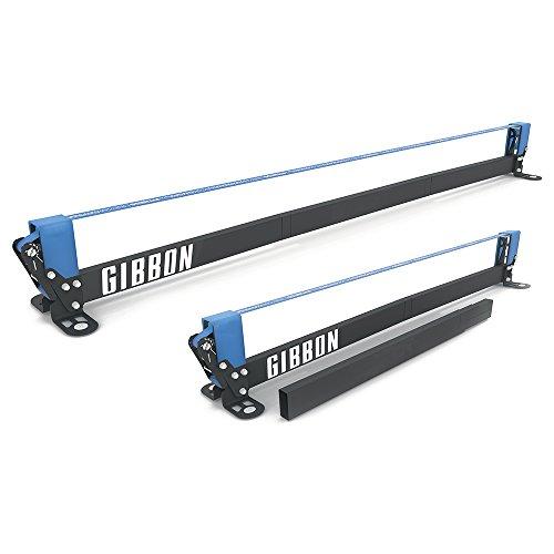 """Gibbon Slacklines Slackrack Fitness Edition, grau/blau, Aufbaulängen: 2 oder 3 Meter, mit 2 Handgriffen, Stretchband und Übungsposter, Höhe: 30 cm, Breite: 2\""""/50mm"""