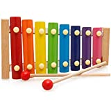 Toyshine Xylophone for Kids Wooden Xylophone Toy with Child Safe Mallets, Educational Musical Instruments Toy for…