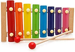 Toyshine Xylophone for Kids Wooden Xylophone Toy with Child Safe Mallets, Educational Musical Instruments Toy for Toddlers Child