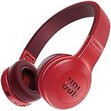 JBL E45BT  - Auriculares Supraaurales Inalámbricos Plegable Incluye Cable de Tela con Universal de 1Botones de Mando a Distancia con Micrófono Integrado, rojo