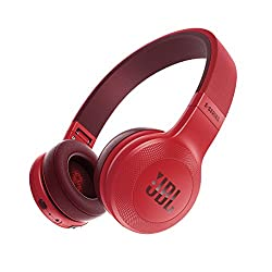 JBL E45BT Wireless On-Ear Headphones (Red)