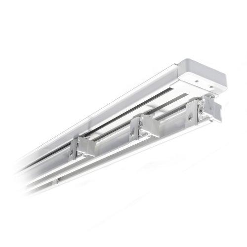 Victoria m binario per tende a pannello in alluminio 219 cm a 3 vie per 4 pannelli, bianco
