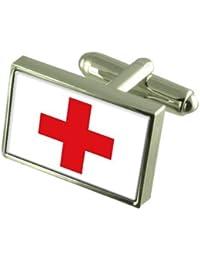 Cruz Roja Gemelos de bandera con bolsa