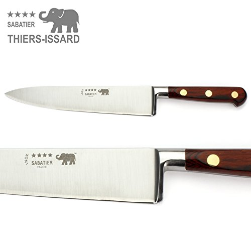 Thiers-Issard Sabatier Kochmesser Küchenmesser Messer - Klinge 20 cm - Griff Staminaholz rot - Geschmiedete Profi Qualität -