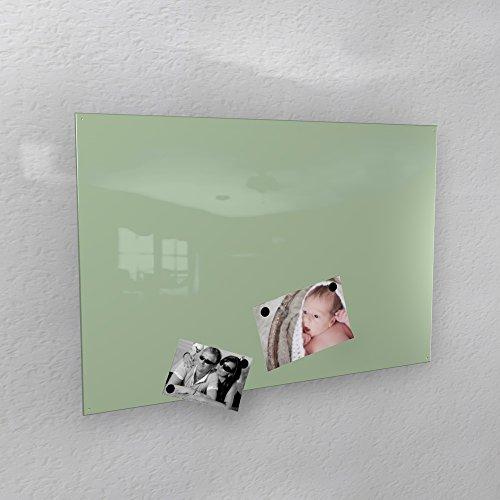 Preisvergleich Produktbild Magnetwand - weiß-grün mint glänzend * RAL 6019 * hochglanz - 3 verschiedene Größen - 40 x 60 cm ; 50 x 80 cm ; 60 x 90 cm - (50_x_80_cm)