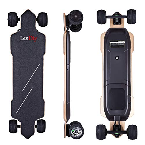 LesDiy Elektro Longboard E-Longboard 4 Leistungsstufen 50km Höchstgeschwindigkeit 30km Arbeitsweg für Teenager, Erwachsene*