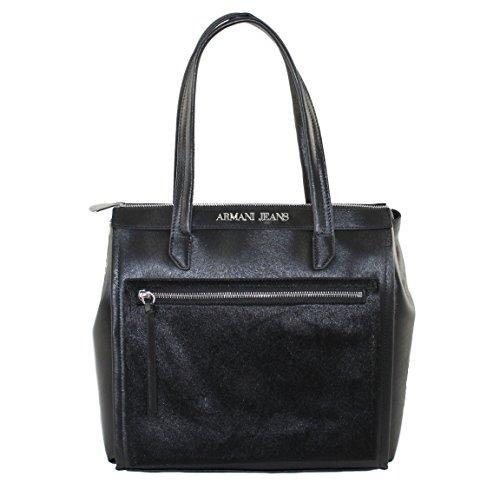 Armani Jeans 922102, Sac pour femme à porter à l'épaule noir schwarz B 27 x H 30 x T 10