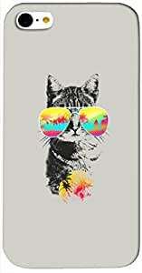 Dazzling 3D multicolor printed protective REBEL mobile back cover for iPhone-5C - D.No-DEZ-1589-i5c