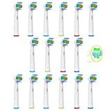 16 piezas (4x4) Sohv Cabezales de recambio para cepillo de dientes eléctrico Oral-B 3D White (EB18-4). Plenamente compatibles con los modelos de cepillos de dientes eléctricos Oral-B Precision Vitality Clean, Vitality Floss Action, Vitality Sensitive Pro Vitality, White, Vitality Dual Clean, Vitality White, Clean and Professional Care, Triumph, Advance Power Series TriZone y Smart
