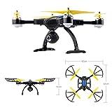 WIFI FPV Drohne mit einstellbarer 720P HD-Kamera. SHIRUI M50 faltbare Altitude Hold Fernsteuerung per iPhone/Android-App mit Echtzeitbildübertragung. 2*Akkus - 7