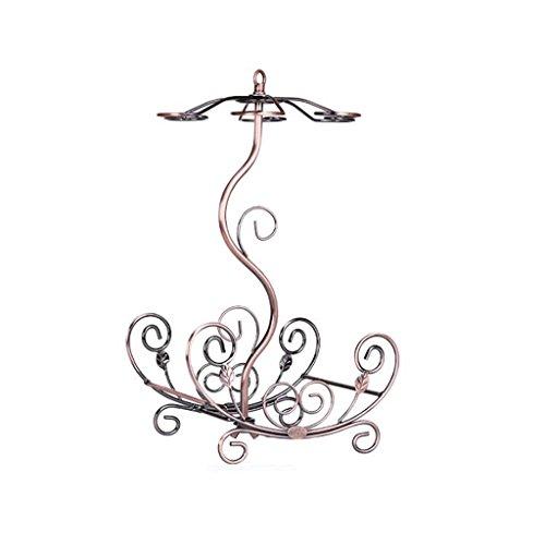 Kreative Weinglas Rack mit Weinregal auf den Kopf gestellt ( Color : Bronze ) (Stehen Banane Baum)