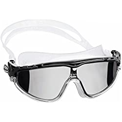 Cressi Skylight Premium Gafas de Natación Anti Empañante y Anti UV Transparente/Negro Gris Lentes Espejo