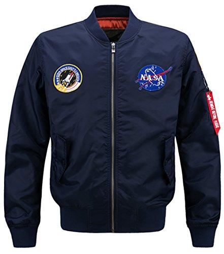 YYZYY Homme Classique Style rétro Patches Flight Jacket Veste Bomber Pilot vol Flying Blousons
