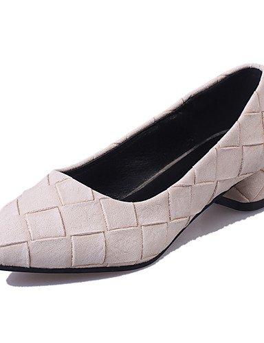WSS 2016 Chaussures Femme-Bureau & Travail / Soirée & Evénement / Décontracté-Noir / Vert / Gris / Beige-Gros Talon-Talons / Bout Pointu- black-us8 / eu39 / uk6 / cn39