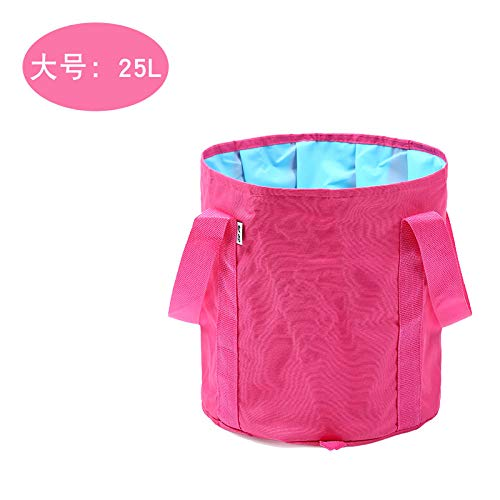 FADANKAIER Portable Collapsible Basin Large travel Bubble Bag Laundry Basin Outdoor wash Basin wash Basin Foot Bucket 25L 80L Rose red (Foldable 25L) - Red Fruit Bowl