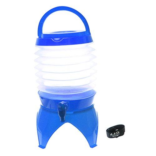 5l Extérieur Contenant De Bière Portable Seau D'eau De Camping Pliable - Bleu, Taille unique