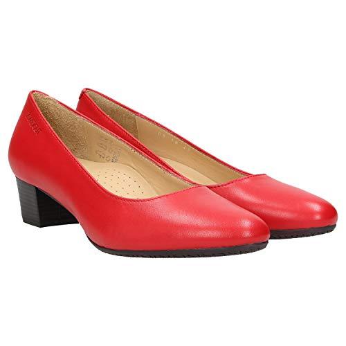 Zweigut® -Hamburg- smuck #213 Damen Leder Pumps - Flacher Absatz - weich - Nappaleder Sommer Business Schuhe Komfort Laufsohle, Schuhgröße:41, Farbe:rot - Damen-leder-anzug