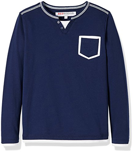 RED WAGON Jungen Sweatshirt, Mehrfarbig (Navy/ White), 104 (Herstellergröße: 4 Jahre) -